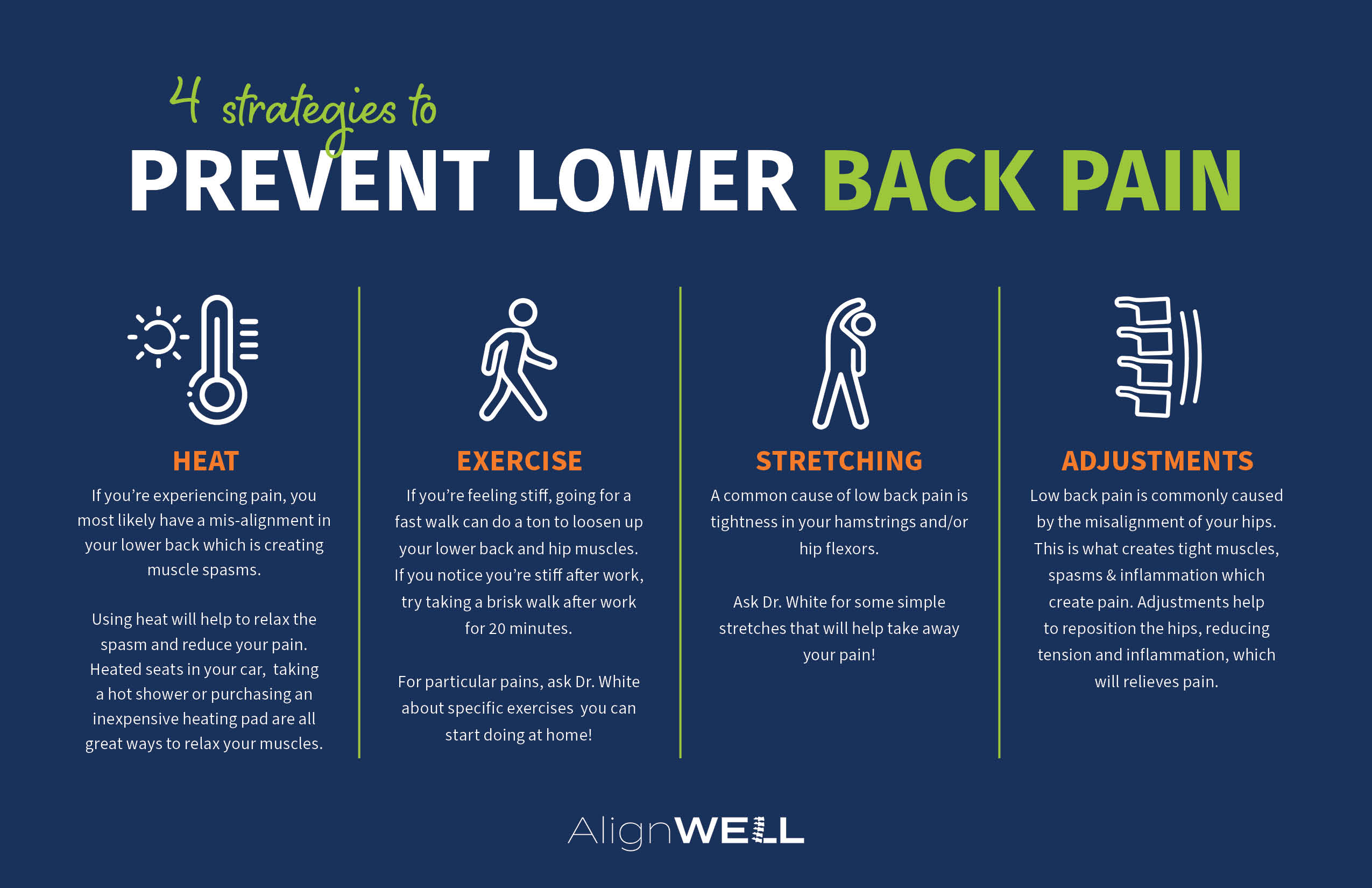 Strategies to prevent Lower Back Pain