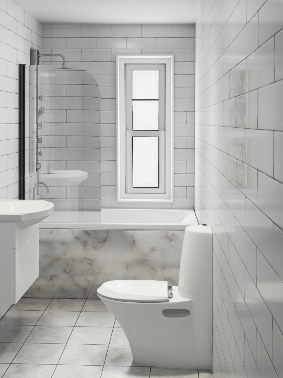 Finish bathrooms and kitchens