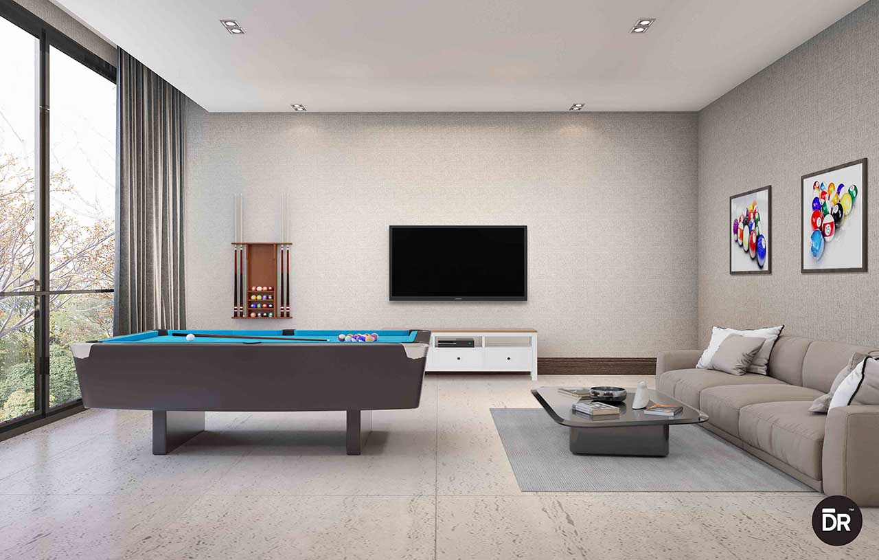 Gym space & games rooms