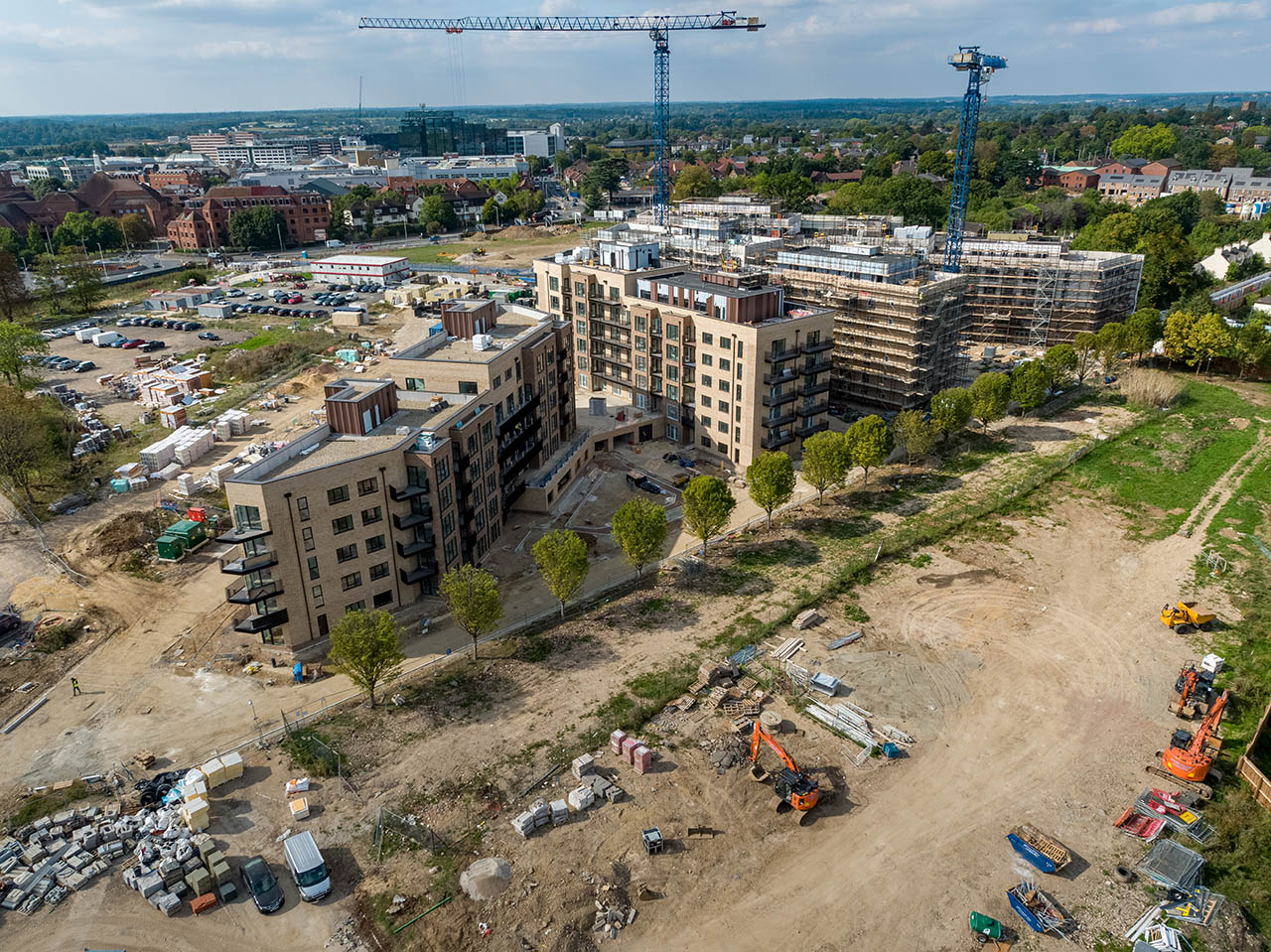 Turn building sites into finished sites