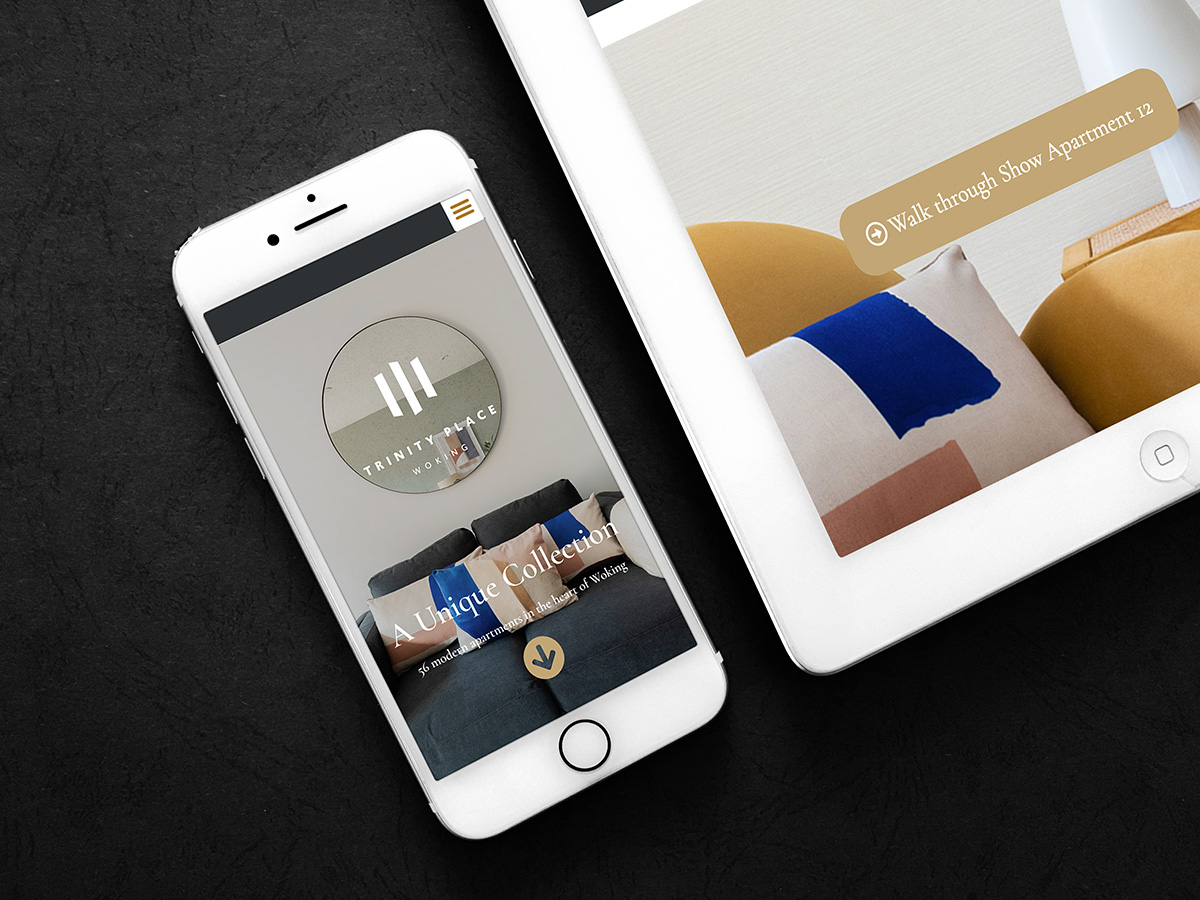 Designing a stylish sleek mini site for new luxury apartments