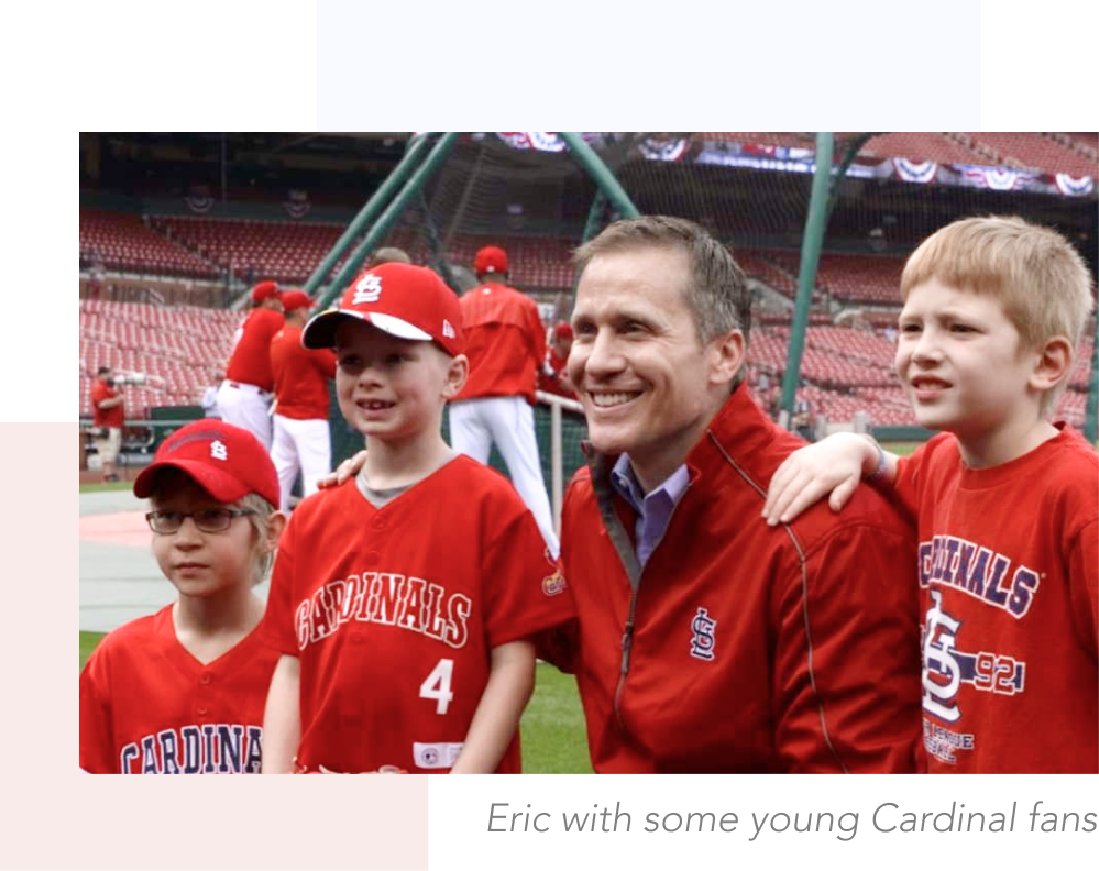 Eric Greitens with young Cardinal fans
