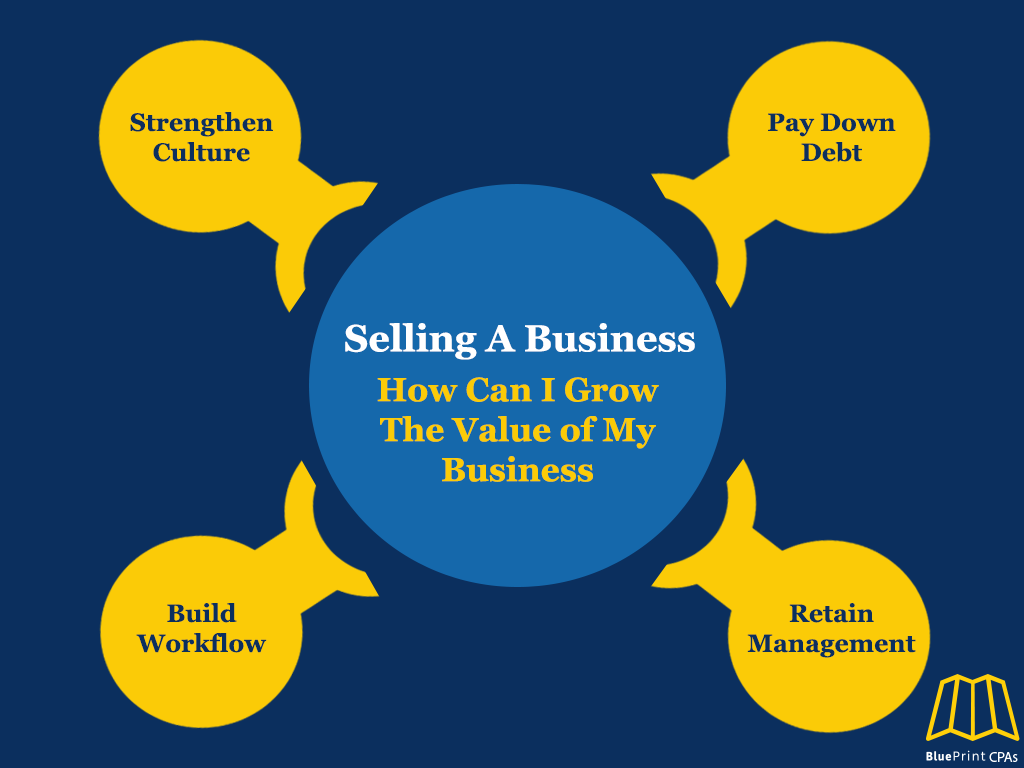 how can I grow the value of my business infographic