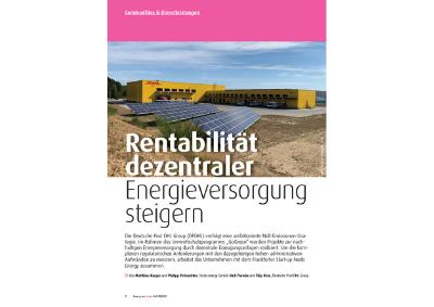 Fachartikel Rentabilität dezentraler Energieversorgung steigern
