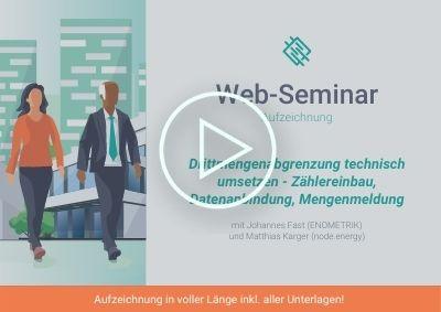 Web-Seminar Aufzeichnung Drittengenabgrenzung technische Umsetzung