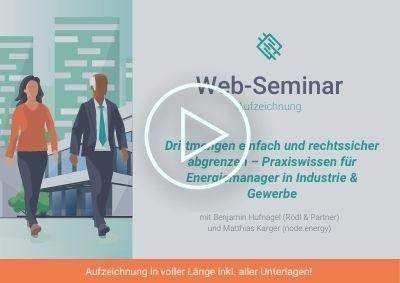 Web-Seminar Aufzeichnung: Drittmengen einfach und rechtssicher abgrenzen