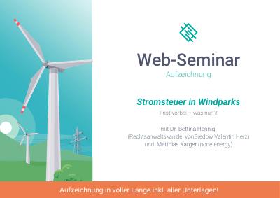 Stromsteuer in Windparks