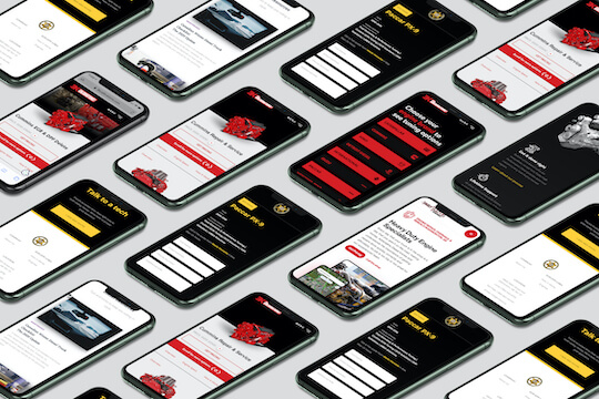 Mobile websites examples on iPhones
