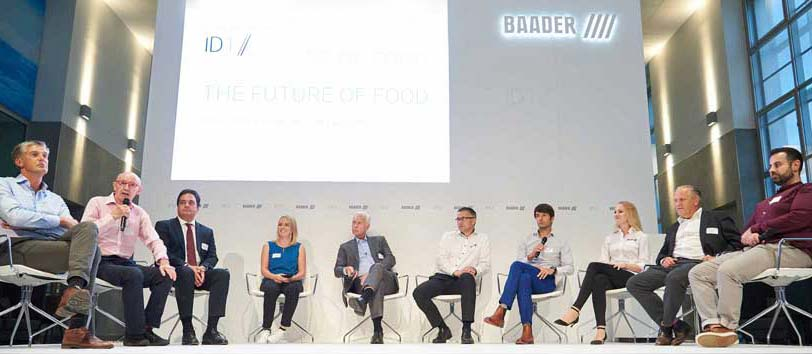 a group of people at an official BAADER Event