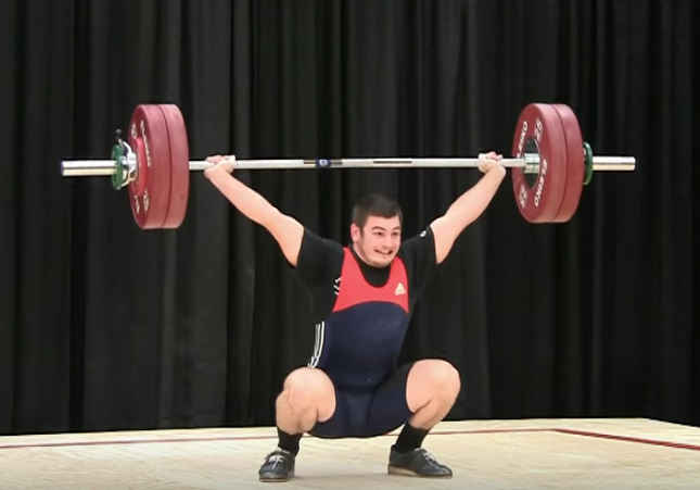 young Mat Fraser while weightlifting