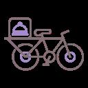 Clipart de una bicicleta para hacer delivery de comida