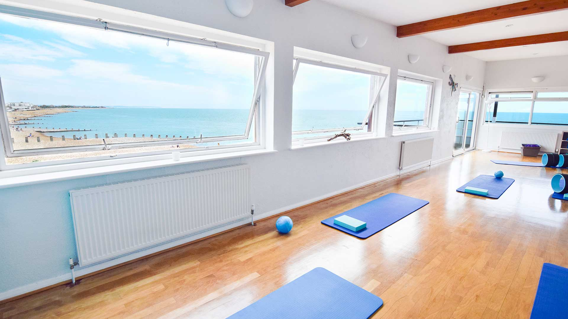 photo of the studio looking over the Eastbourne beach.