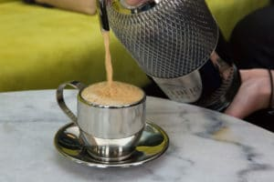 Ready-mixed espresso martini at the touch of a button