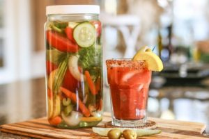 Vegetable infused vodka for Bloody Mary