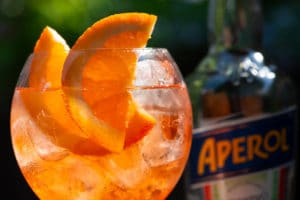 The Aperol spritz summer cocktail is 2-for-1 all night!