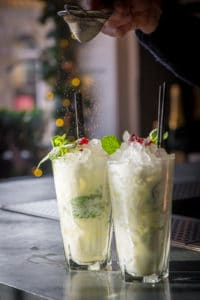 White Christmas Mojito cocktail from Sub 13 is a festive twist on the classic