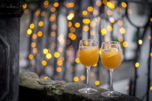 Mulled gin and tonic cocktail is perfect for warming up after shopping the bath Christmas market