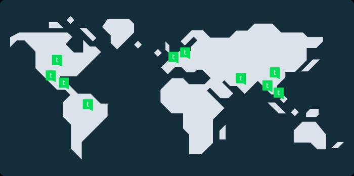 Talkpushers Map