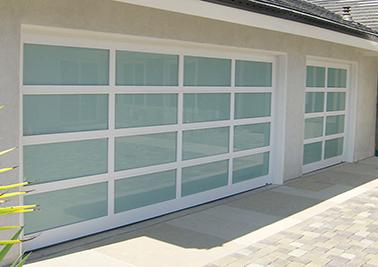White Glass Garage Door