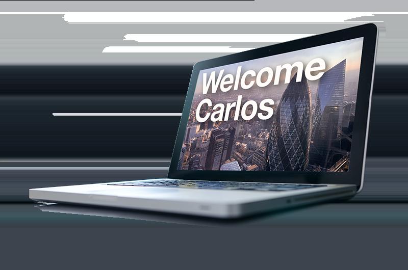laptop playing video