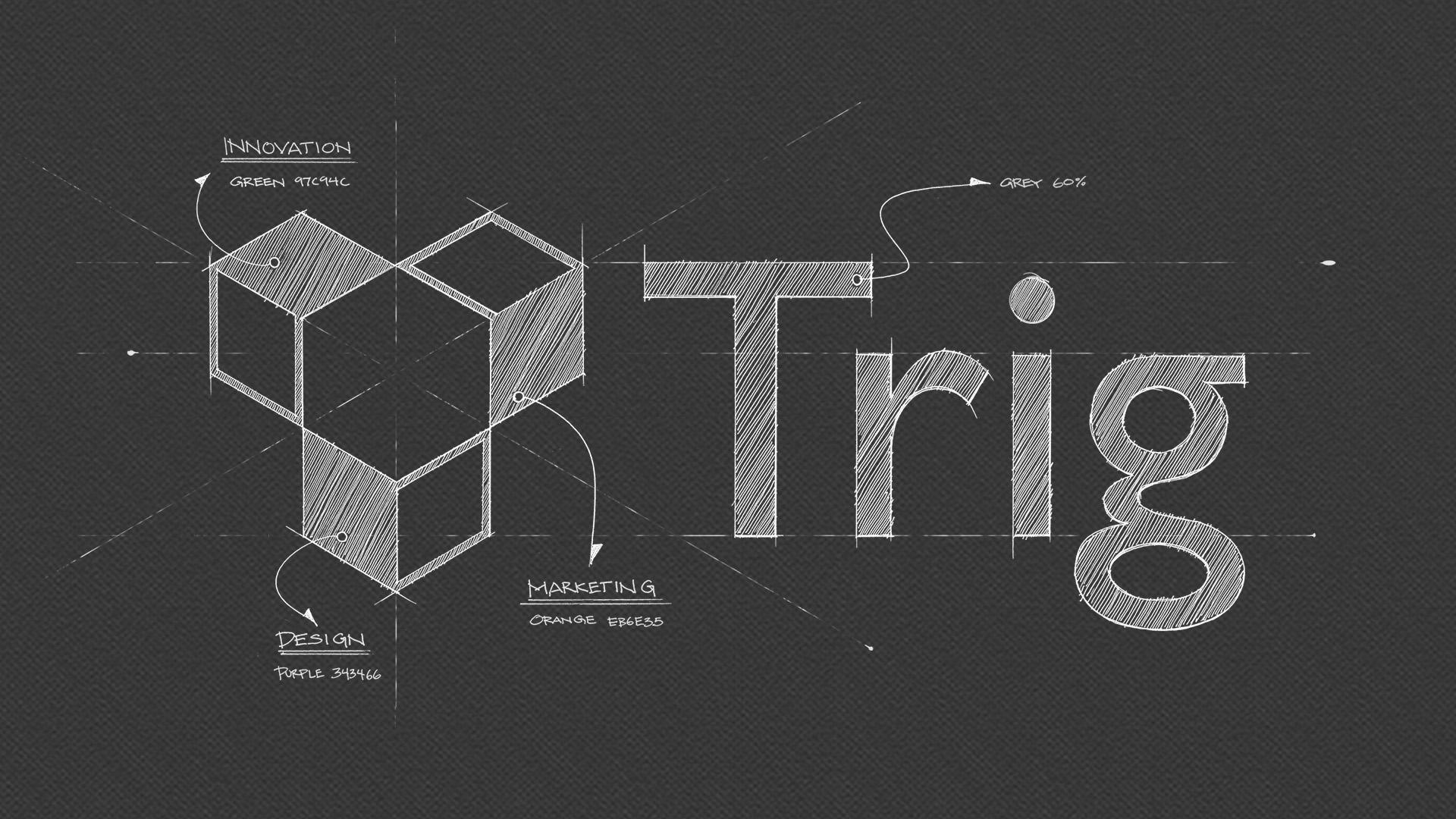 Trig Logo Chalk Board Style