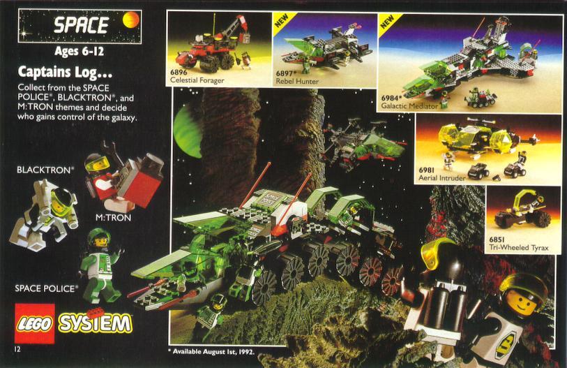 1992 Lego Catalog Page Image Source: http://lego.wikia.com/