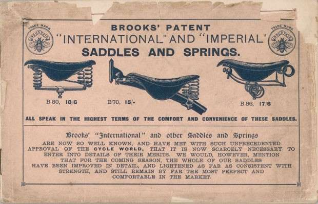 Brooks Saddle and spring patent