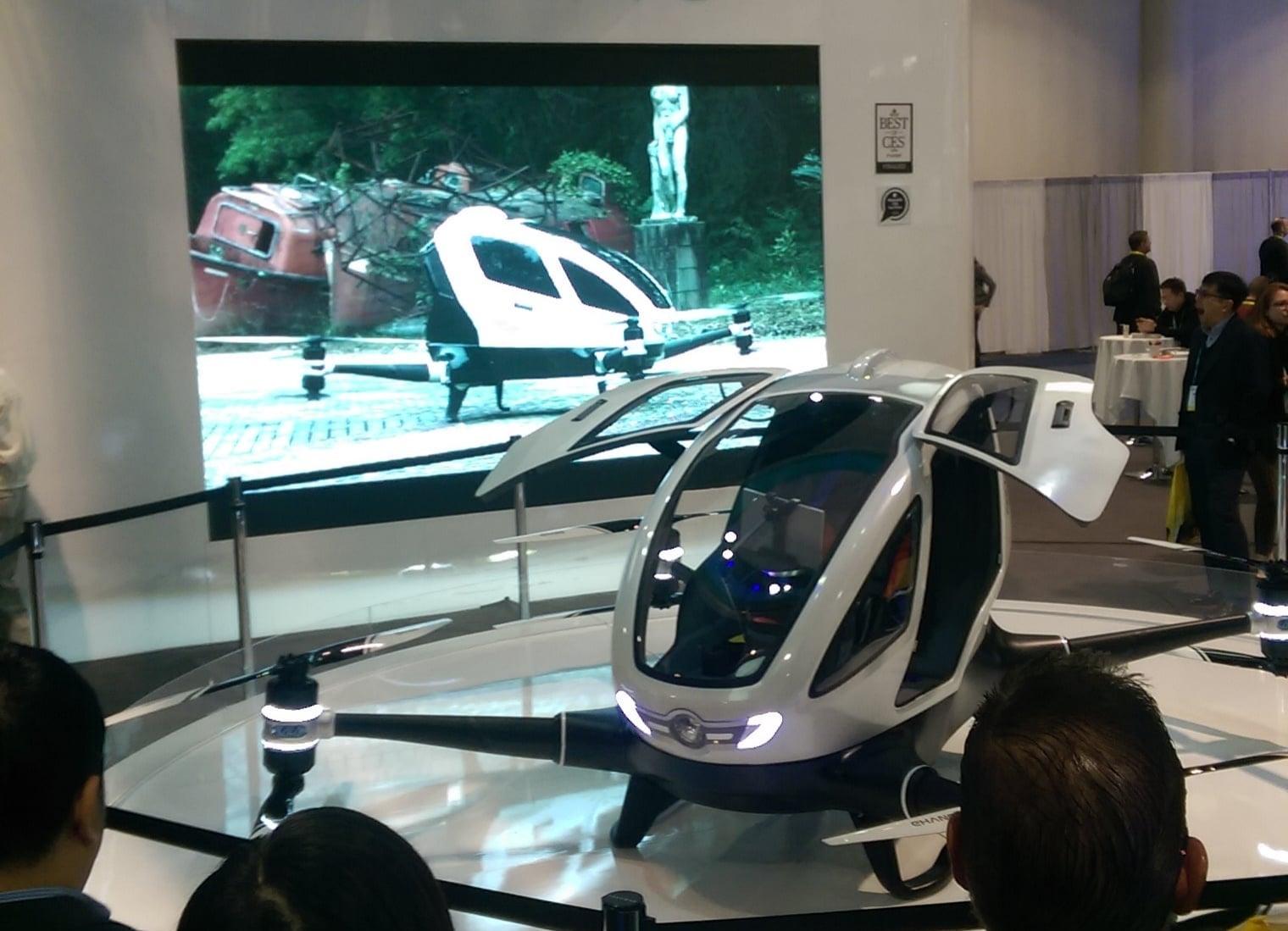 EHANG Autonomous Drone Helicopter