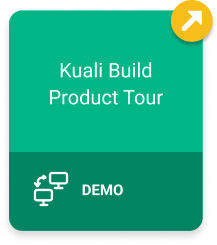 Kuali Build Product Tour Demo