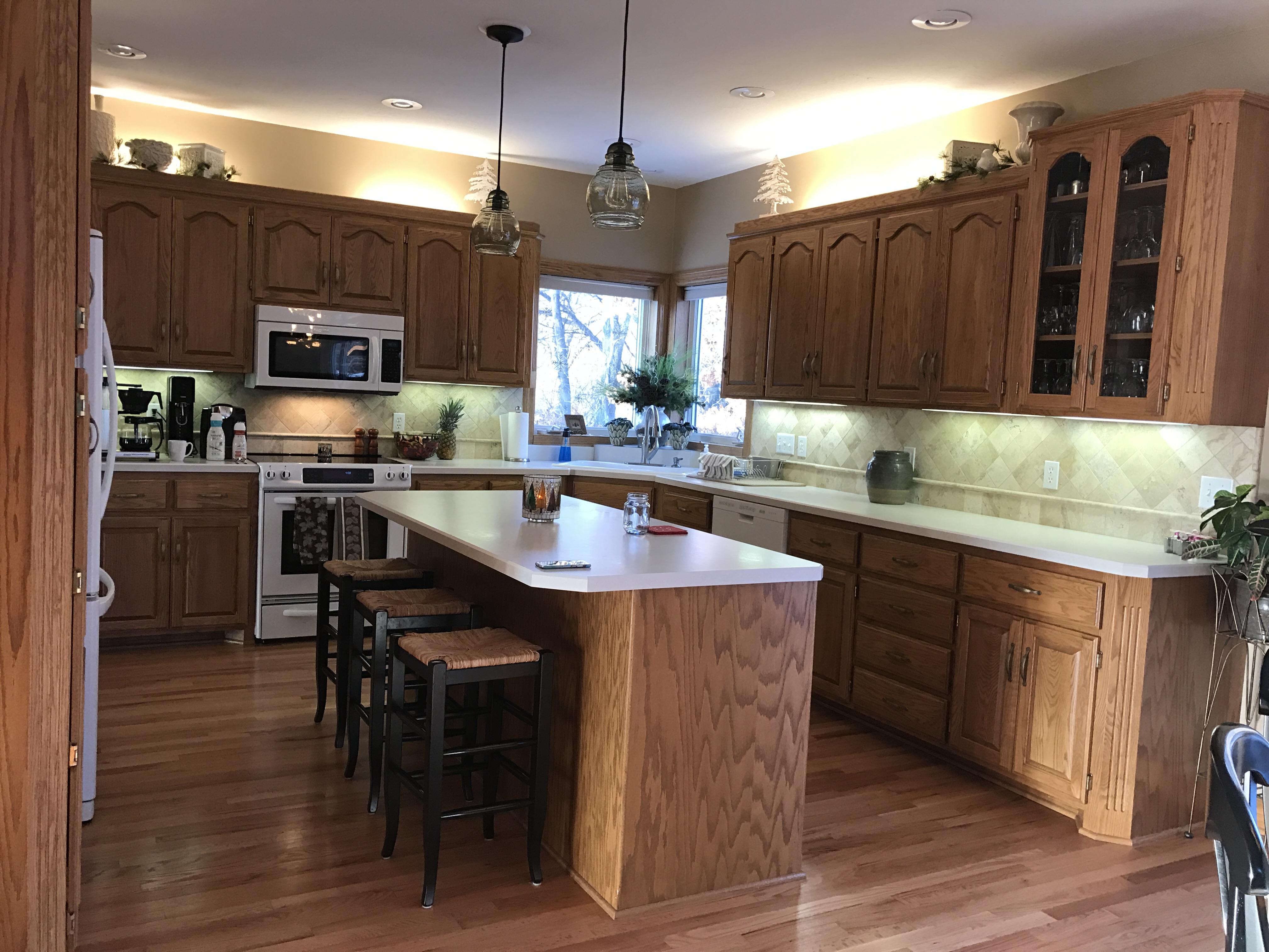Updating Oak Cabinets Doors Floors Trim