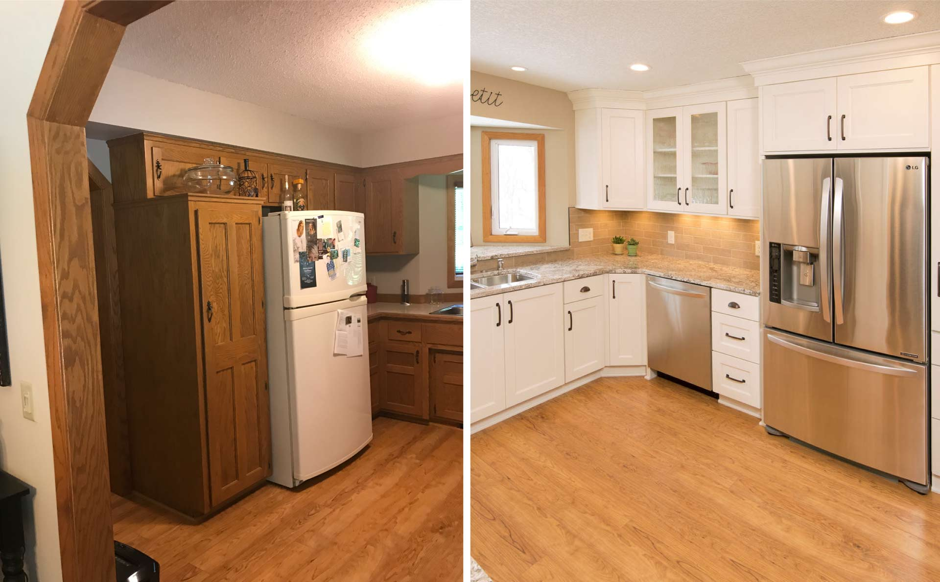 Updating Oak Cabinets Doors Floors Trim