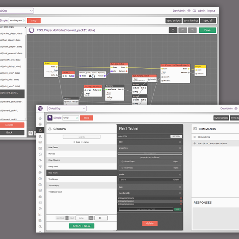 Merigo project image. Multiple screens demonstrating the product's interface.