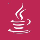 Java logo in white on magenta circle.