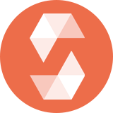 Solidity icon in white on orange background.