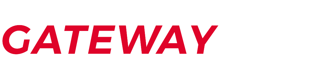 Gateway Auto logo, red and white letters