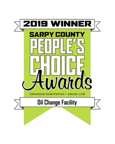 An image of the People's Choice Award for Best Oil Change Facility