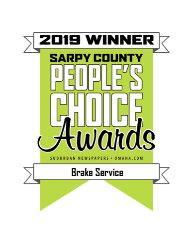 An image of the People's Choice Award for Best Brake Service