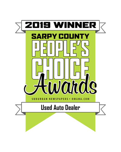 An image of the People's Choice Award for Best Used Auto Dealer