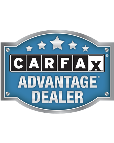 An image of the CarFax Advantage Dealer sticker