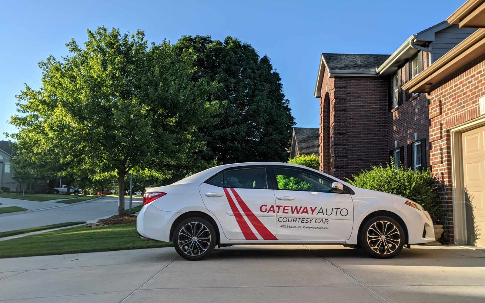 A photo of Gateway Auto's courtesy cars