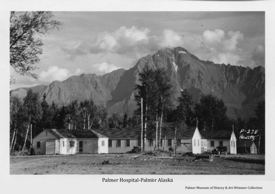 Palmer hospital, constructed began in July 1935, opened in fall of 1935, dedicated May 15, 1937, burned May 1946