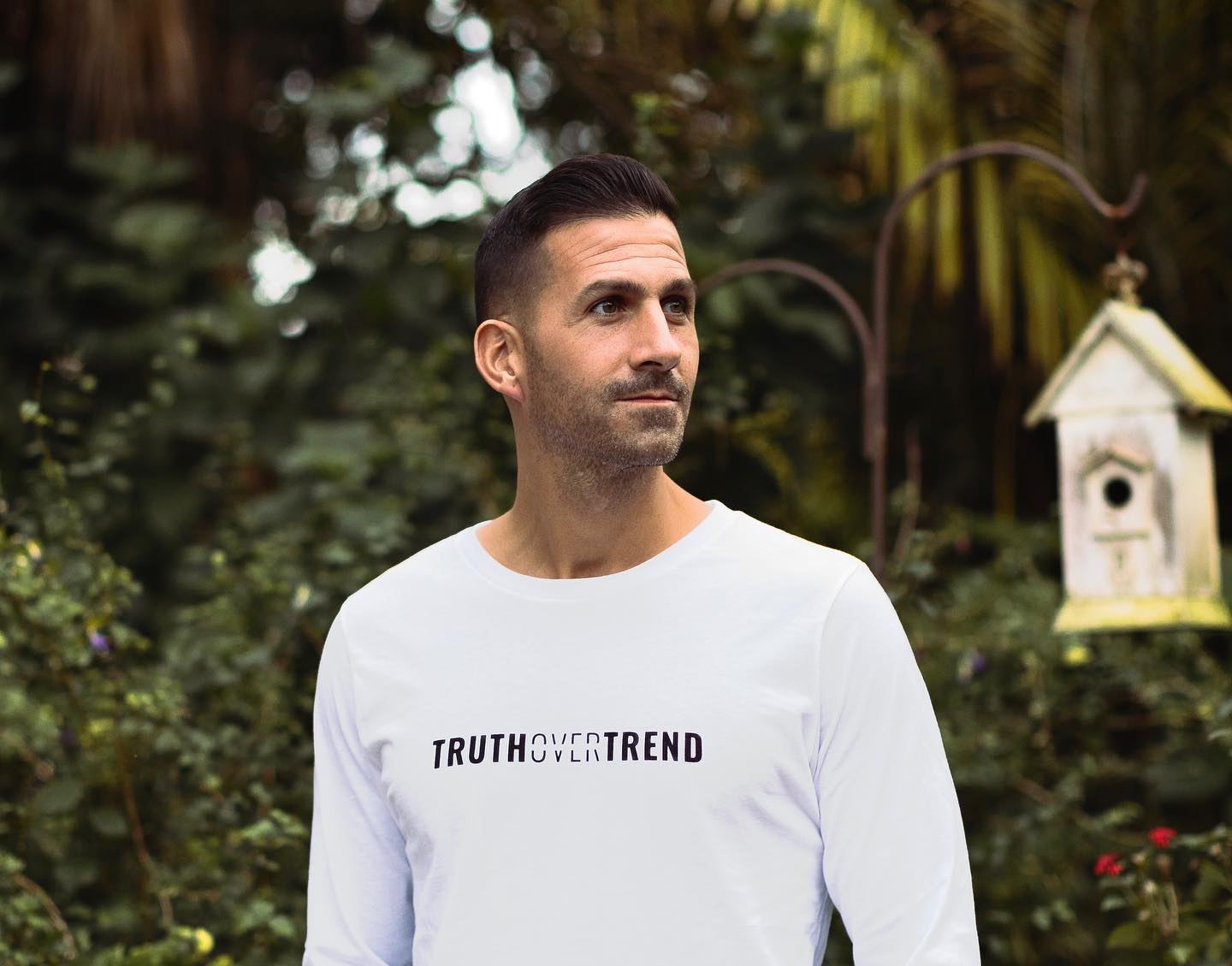 Matthew Maher wearing a truth over trend shirt