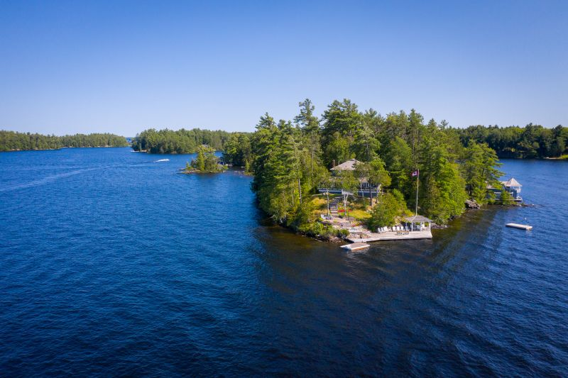 Lake Muskoka - Magical Whole Island Gifts today's family their own Private Kingdom. Gorgeously Splendid in every way - This is what Summer Memories are made of