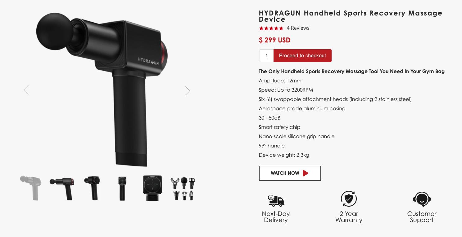 HYDRAGUN Shopscreen