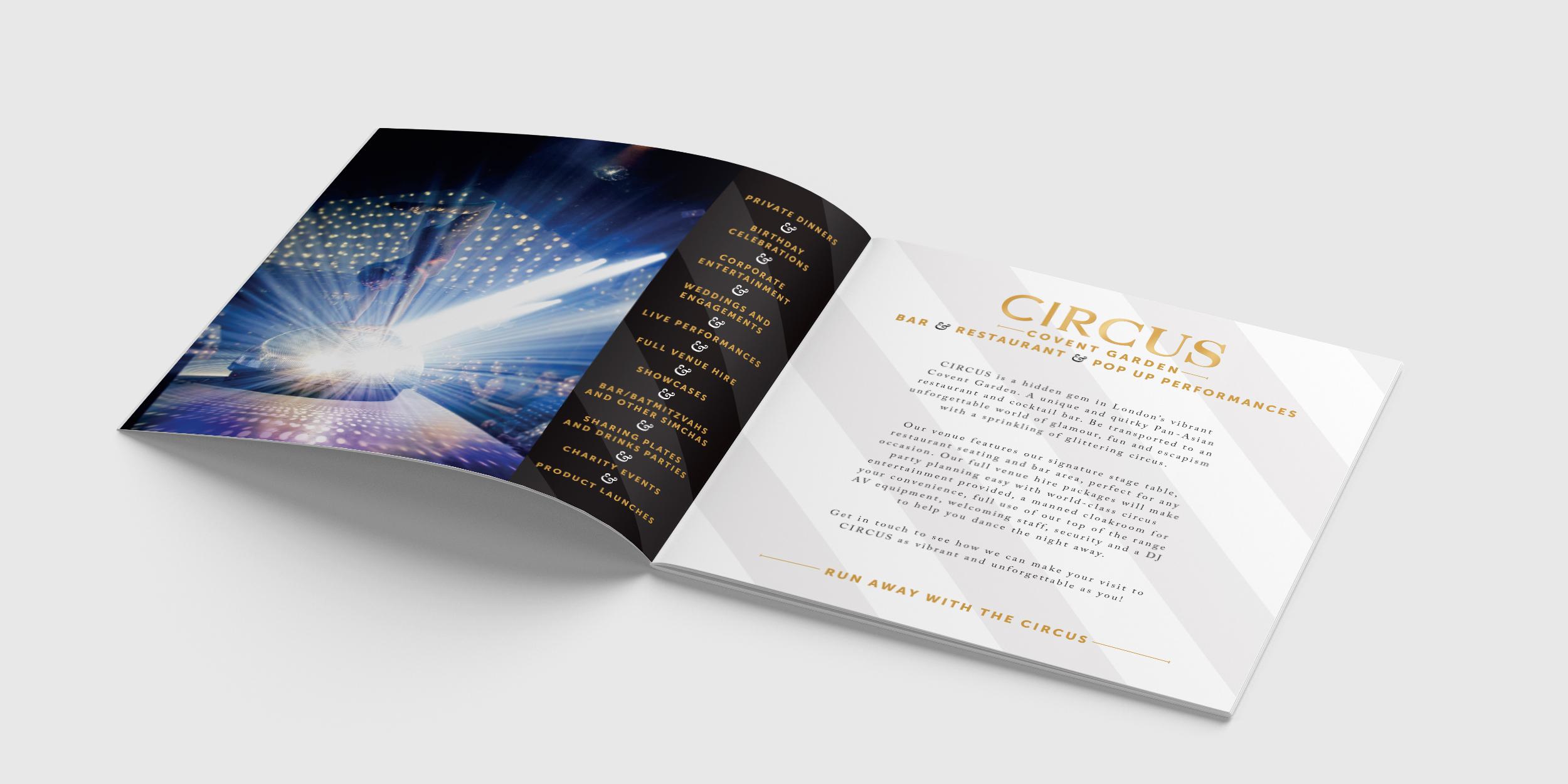 Circus brochure spread