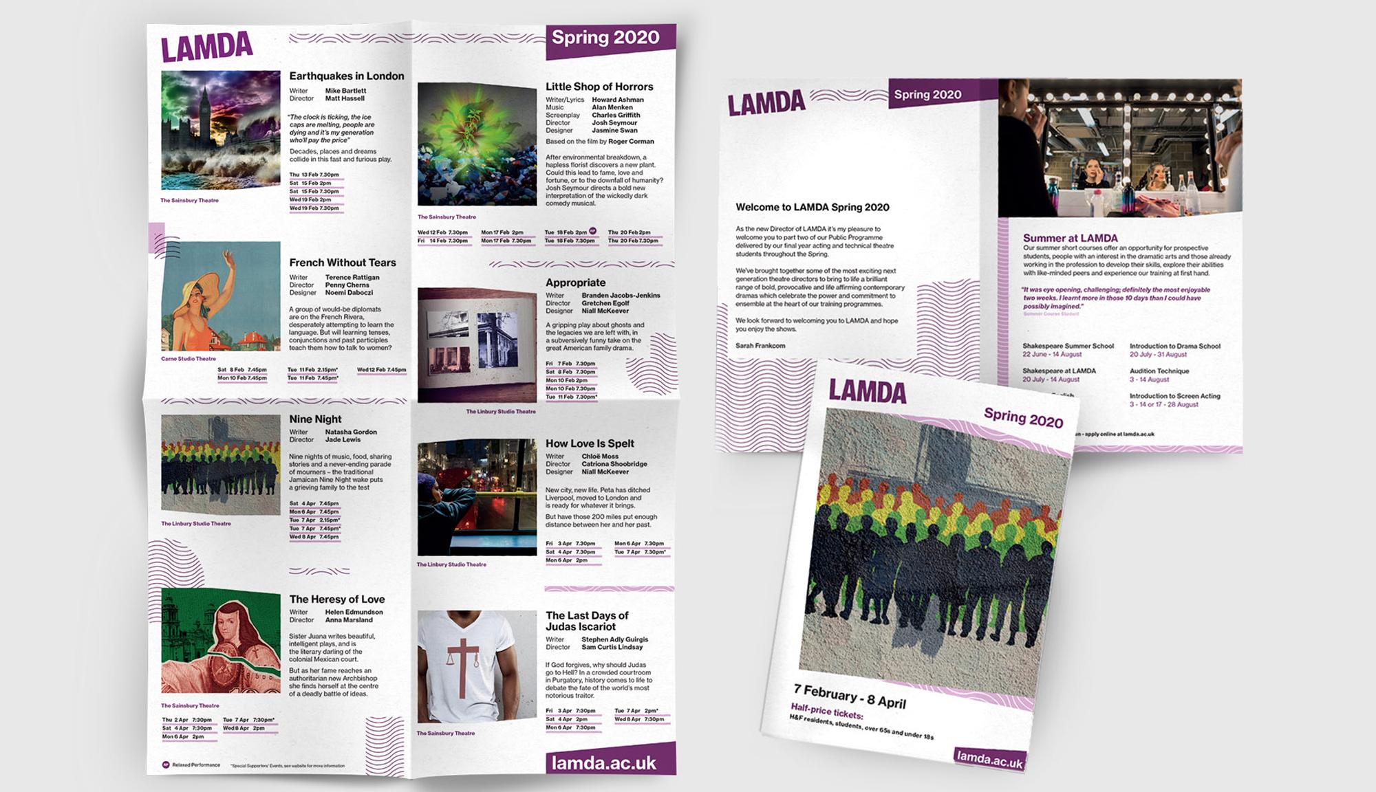 Season imagery and print design