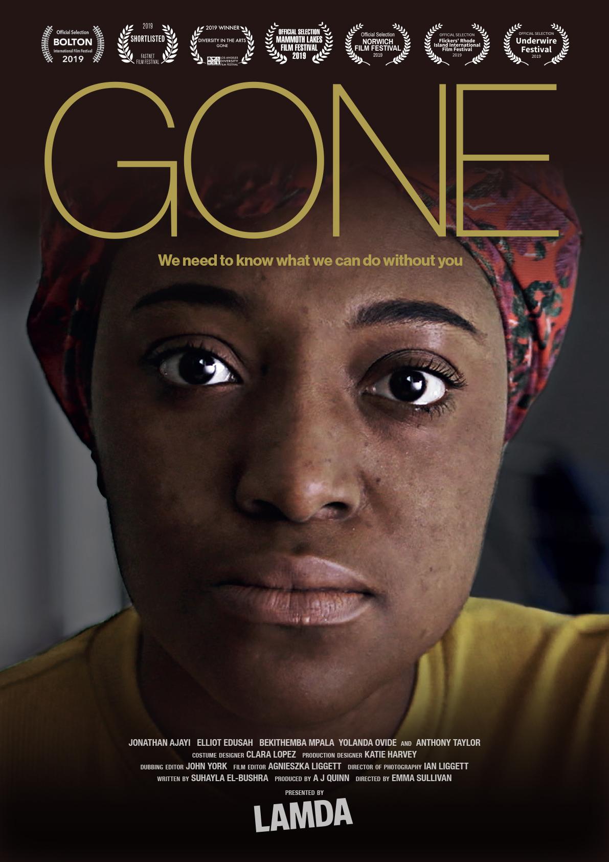 Poster for Gone - an Award-winning short film