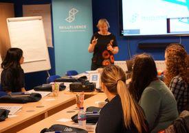 Photo of Alison teaching