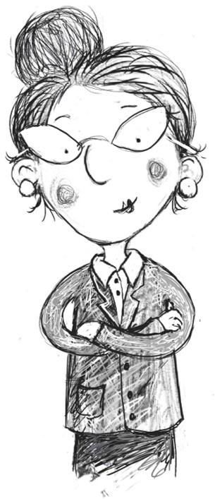 Drawing of a head teacher