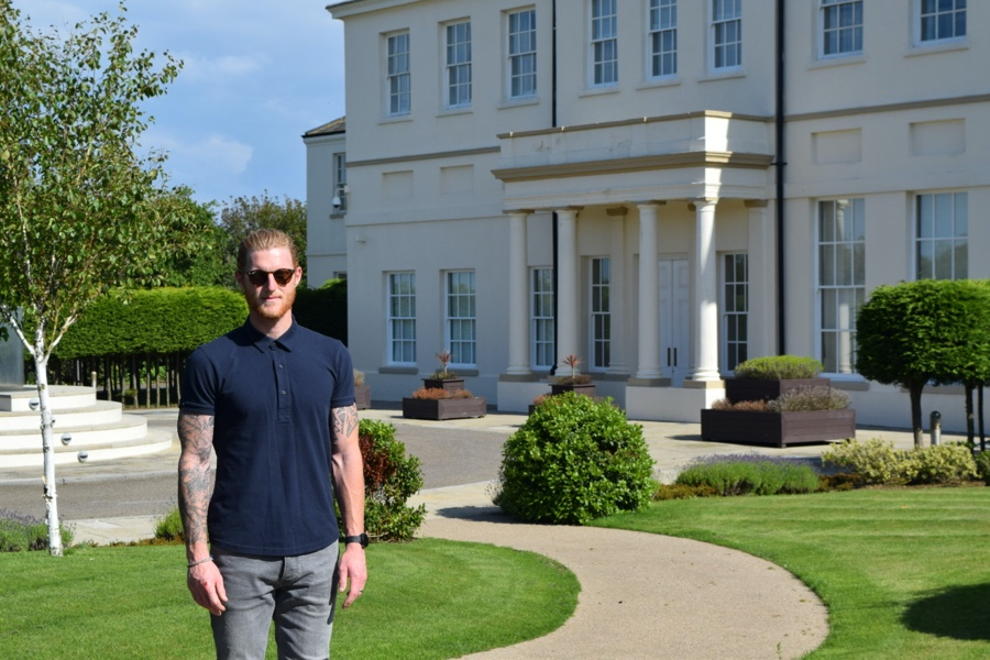 Ben infront of Seaham Hall